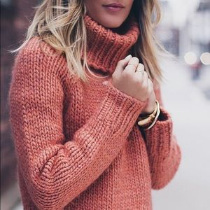 Madewell Handknit Cozy Turtleneck Sweater